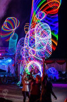 LED Hoop Mania at Flow Camp | Hooping.org