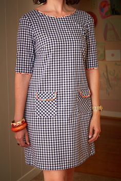 Gingham Laurel - Lilly is Love Simple Dresses, Day Dresses, Cute Dresses, Dress Outfits, Casual Dresses, Fashion Dresses, African Wear, African Dress, African Fashion