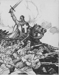 """Patrick Chovanec on Twitter: """"Nov 18, 1917 - Cleveland Plain Dealer depicts British campaign to capture Jerusalem from Turks as a modern-day crusade #100yearsago https://t.co/DxvIPvjUqC"""""""