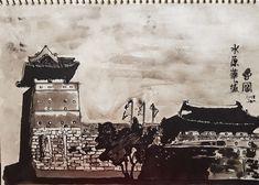 #pendrawing #photographydrawing #storytelling #streetart #urbansketch #cityalleys #suwonhwasung #ancientkorea