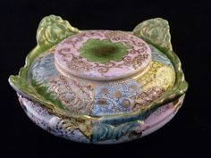 A. A. Vantine Porcelain Scalloped Covered Dish