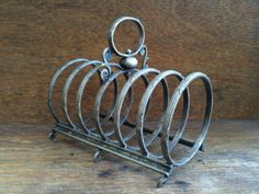 Vintage English Metal Toast Rack by EnglishShop on Etsy, $49.00