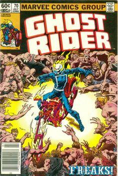 Cover for Ghost Rider (Marvel, 1973 series) July 1982 Marvel Comics Art, Horror Comics, Marvel Comic Books, Comic Books Art, Comic Art, Marvel Dc, Book Art, Vintage Comic Books, Vintage Comics