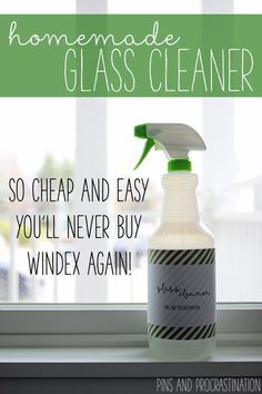 There's nothing I love more than a clean, clear, window. Natural light really transforms a space. But dirty, smudgy windows and glass can really make a room look sloppy! Even if you do clean them regularly, it's hard to find a good smudge-free green glass cleaner. This green glass cleaner is easy, and costs less than $2 to make. Cleaning your windows and mirrors has never been more easy!