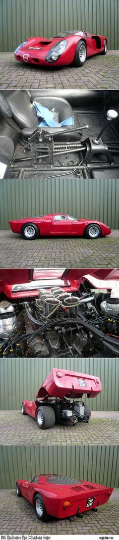 1968 Alfa Romeo Tipo 33 Daytona Coupe #alfa #alfaromeo #italiandesign