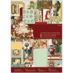 Papermania Victorian Christmas A4 PAPER CRAFTING PACK - Card Making Kit -Victorian Paper and Die Cuts - Victorian Christmas Paper Crafting by OneDayLongAgo on Etsy