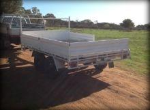 Darren built this trailer using our Wide Flatbed Trailer Plans - www.trailerplans.com.au