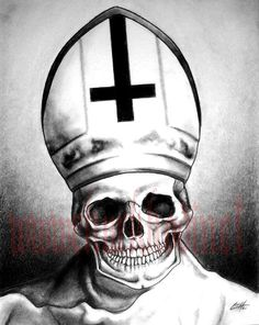 Print 8x10   Pope for the Dead by chuckhodi on Etsy, $10.00