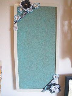 DIY Painted Cork Board