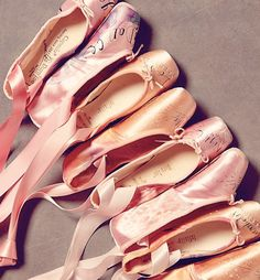beautiful vintage ballet slippers