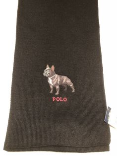 aad4aab389ca19 RALPH LAUREN POLO FRENCH BULLDOG Frenchie Scarf NWT Black #fashion  #clothing #shoes #accessories #mensaccessories #scarves (ebay link)