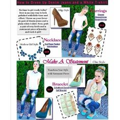 Kristyn from KSquaredGlamour is getting creative with this style sheet featuring our jewelry!