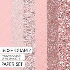 Glitter Paper PANTONE 2016 Rose Quartz 6 different versions - COLOR of the Year Downloadable Paper Instant Download Background Paper by Fashiontelligent on Etsy