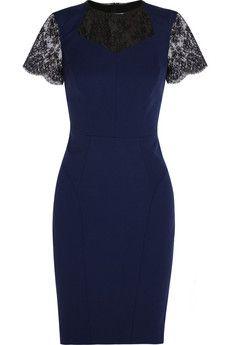 Jason Wu Wool-blend and lace dress | THE OUTNET