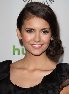 Shop The Products That Give Nina Dobrev Her Dewy Glow Bridal Makeup, Wedding Makeup, Bridal Hair, Beauty Makeup, Hair Makeup, Hair Beauty, Bridesmaid Hair, Prom Hair, Bridesmaid Ideas