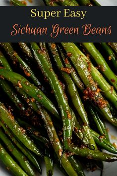 Soy Sauce Green Beans, Asian Green Beans, Chinese Green Beans, Stir Fry Green Beans, Spicy Green Beans, Ginger Green Beans, Fried Green Beans, Chinese Beans Recipe, Szechuan Green Beans