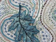 Quilting: Stupendous Stitching - like the addition of leaves