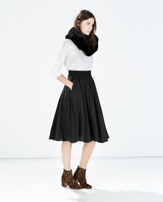 Image 1 of FULL SKIRT WITH ELASTIC WAIST from Zara
