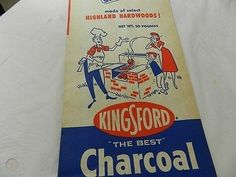vintage kingsford charcoal briquettes - Google Search Kingsford Charcoal, Charcoal Briquettes, Best Charcoal, Bar B Q, Hardwood, Google Search, Vintage, Natural Wood, Vintage Comics