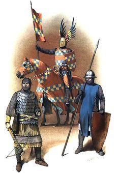Germans: • Crossbowman, early 14th C  • Knight, early 14th C  • Infantryman, c. 1300