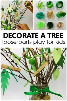 Decorate a Tree Loose Parts Play – Fantastic Fun & Learning Decorate a Tree Loose Parts Play for Kids-Toddler and Preschool Collaborative Pretend Play and Art Project for Tree Theme and Spring Activities Collaborative Art Projects For Kids, Preschool Art Projects, Toddler Art Projects, Preschool Activities, Toddler Activities For Daycare, Reggio Emilia Preschool, Reggio Classroom, Classroom Layout, Motor Activities
