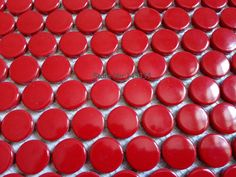 11square feet red penny round ceramic mosaic tile kitchen backsplash bathroom shower wall paper fireplace border decoration #Affiliate