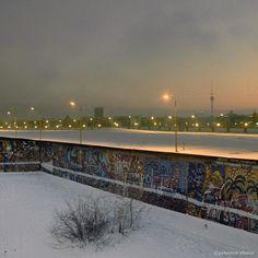 Winter Vintage Berlin: Der Potsdamer Platz im Jahr 1986.