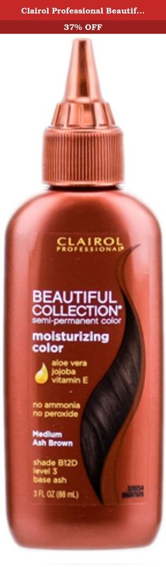 Clairol Professional Beautiful Collection Semi-permanent Hair Color, Medium Ash Brown 3 oz (Pack of - Products Lists of Tools and Hardware Medium Ash Brown, Reddish Brown, Vidal Sassoon Hair Color, Overprocessed Hair, Semi Permanent Hair Color, Moisturize Hair, Body Makeup, Jojoba Oil, Aloe Vera