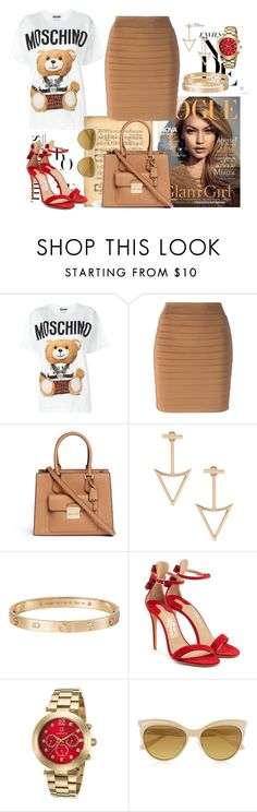 """nude love<3"" by ztugceuslu ❤ liked on Polyvore featuring Moschino, Balmain, Michael Kors, Cartier, Salvatore Ferragamo, Cabochon, Vivienne Westwood and toys"