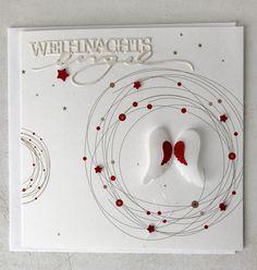 Weihnachten in den klassischen Farben Rot-Weiss     mit etwas Schimmer undGlitzer                                            Alles ...