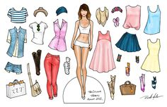 really lovely paper dolls - I loved paper dolls so much as a kid