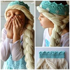 Crochet Elsa Hair : 1000+ images about Disfraces on Pinterest Tutu dresses, Costumes and ...