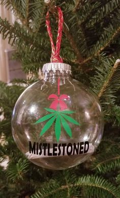 Items similar to Mistlestoned ornament / stoner ornament/ 420 ornament/ funny ornament on Etsy Elf Christmas Decorations, Elf Decorations, Christmas Gnome, Christmas Bulbs, Funny Ornaments, Christmas Gifts For Coworkers, Man Cave Gifts, Gift For Music Lover, Ribbon Colors