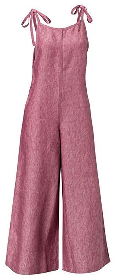 Caroline's Linen Overalls Red Small