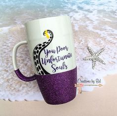 You Poor Unfortunate Souls Latte Mug / Ursula Coffee Mug / Little Mermaid Coffee Mug / Ariel Coffee Mug