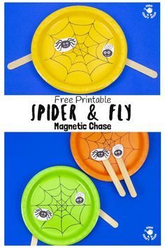 This Magnetic Spider and Fly Craft is creative educational and fun! Make the cheeky spider and fly play chase around the web using the wonder of magnets!) Care Skin Condition and Treatment Oil Makeup Fun Halloween Games, Halloween Crafts For Kids, Crafts For Kids To Make, Kids Crafts, Craft Kids, Bee Crafts, Creative Activities For Kids, Creative Kids, Spider Crafts