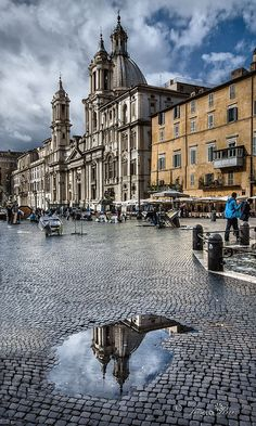 """""""Piazza Navona"""" Rome Italia,by Jóse Ruiz Places To Travel, Places To See, Wonderful Places, Beautiful Places, Travel Around The World, Around The Worlds, Voyage Rome, Piazza Navona, Best Hotel Deals"""