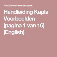 Handleiding Kapla Voorbeelden (pagina 1 van 16) (English)