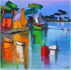 """Le petit port"" - Eric LePape (oil)"