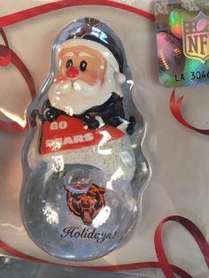 Chicago Bears Ornament - Santa Snow Globe New in Box NFL Football  | eBay