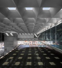 Built by Paulo Mendes da Rocha,MMBB Arquitetos, Bak Gordon Arquitectos in Lisboa, Portugal with date Images by Fernando Guerra Museum Architecture, Architecture Photo, Contemporary Architecture, Amazing Architecture, Roof Design, Ceiling Design, Lisbon City, Hayward Gallery, Church Pictures