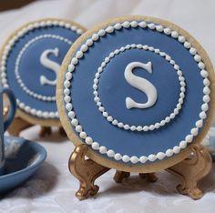 Monogrammed Wedgwood Wedding Cookies $4.25