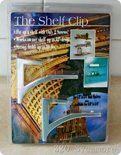 shelf clip from the container store (and how to use it to do shelves)