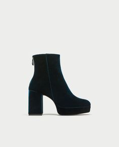 4f14ff2f60347a PLATFORM ANKLE BOOTS WITH PULL TAB - SHOES-SALE-WOMAN
