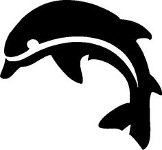 dolphin stencil Art Template, Stencil Templates, Stencil Designs, Face Painting Designs, Painting Patterns, Summer Drawings, Fairy Jars, Whale Art, Hat Crafts