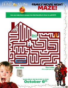 Home Alone Family Movie Night Activity Pages #HomeAloneInsiders #printables #christmas