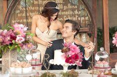 Colors: Dark grey and berries.     Romantic Fall Wedding Inspiration