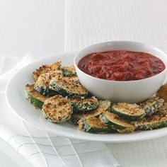Crispy Grilled Zucchini with Marinara Recipe from Taste of Home