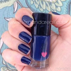 Esmalte QDB cor Azulaço - Blue  Nails, Nail Polish #CurtiCompartilhei