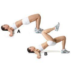El puente: trabaja además del glúteo, toda la parte trasera de la pierna, tu abdomen y espalda.